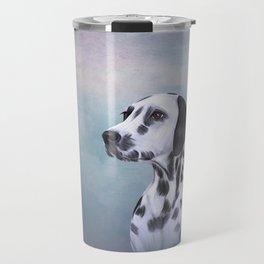 Drawing Dog Dalmatian Travel Mug