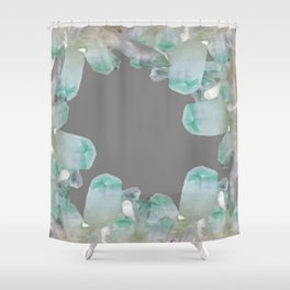 GEMMY CRYSTALS GREY ART Shower Curtain