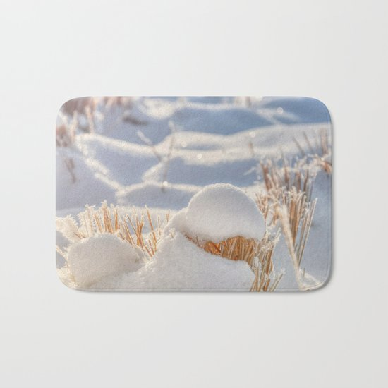 And finally Winter, with its bitin', whinin' wind, and all the land will be mantled with snow. Bath Mat