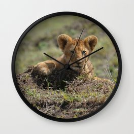 Adorable Lion Cub Wall Clock