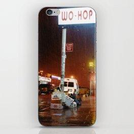 Rainy night in Chinatown iPhone Skin
