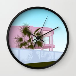 Art Deco Beach House Wall Clock