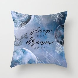 Mysterious Luna #4: Sleep less, dream more Throw Pillow