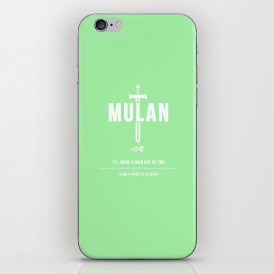 Disney Princesses: Mulan Minimalist iPhone & iPod Skin
