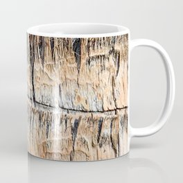 Palm Tree Razor Cuts // Close Up Tan and Natural Wood Texture Coffee Mug