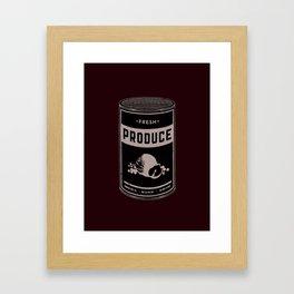 Fresh Canned Produce Framed Art Print