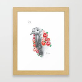El Chompipe — from the series Lotería Framed Art Print