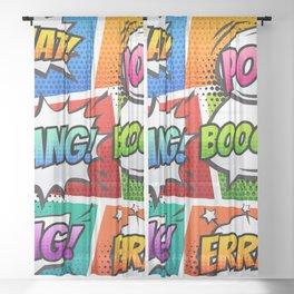 ComicShouts Sheer Curtain