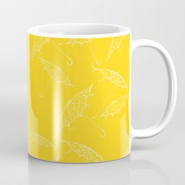 Yellow Summer Beach Bliss Umbrella Pattern Coffee Mug
