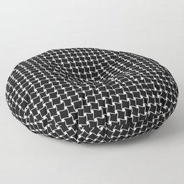 Black Rooftops Floor Pillow