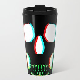 Green Skull 3d Travel Mug