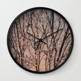 Winter Tree at Sunset Wall Clock