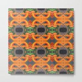 Summer Orange Abstract Metal Print