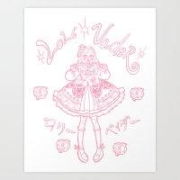 eugenia loli Art Prints featuring Loli Vader Pink by Starkickback