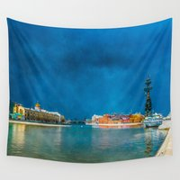 moscow Wall Tapestries featuring Snow Showers Over Moscow by digital2real