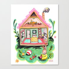 Rebecca Rabbit, Her House, and Her Belongings Canvas Print