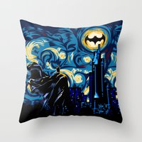van Throw Pillows featuring Starry Knight iPhone 4 4s 5 5c 6, pillow case, mugs and tshirt by Three Second