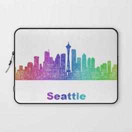 Rainbow Seattle skyline Laptop Sleeve