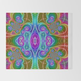 BBQSHOES: Fractal Math Art #1449 Throw Blanket