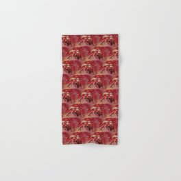 Peppermint Candy Colored Poinsettias Digital Art Hand & Bath Towel