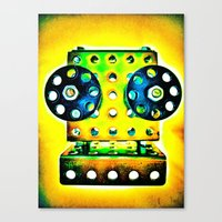 dj Canvas Prints featuring DJ by Yukska