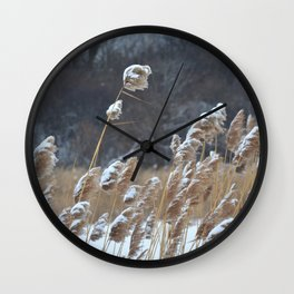 Reeds in the Wind Wall Clock