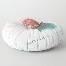 Amelia Earhart Courageous Adventurer Floor Pillow