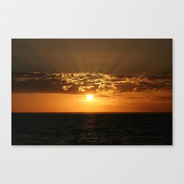 Good Night Sun Canvas Print