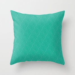 Tropical Life in Vintage Blue Throw Pillow