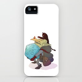 Goblin and his cat iPhone Case