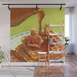 Pour some syrup on me - Breakfast Waffles Wall Mural