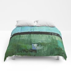 Sky Blue Sky Contemporary Abstract Landscape McNulty Comforters