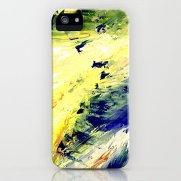 Abstract Yellow Dancer by Robert S. Lee iPhone Case