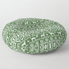 Irish Setter fair isle christmas green and white holiday sweater gifts dog breed Floor Pillow