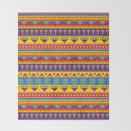 vivid mexican pattern Throw Blanket