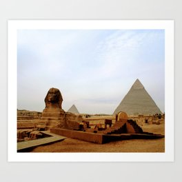 giza pyramids art prints   Society6