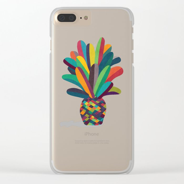 Flower Pot Clear iPhone Case