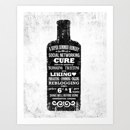 The Social Remedy  - Tonic Art Print