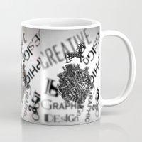 pixel Mugs featuring Pixel by VERTIgO