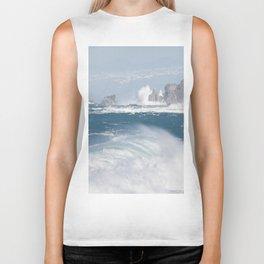 Turbulent Ocean Waves Biker Tank