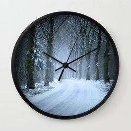 A Winter Wilderness Wall Clock