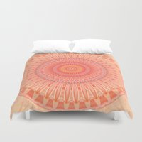 health Duvet Covers featuring Mandala mental health by Christine baessler