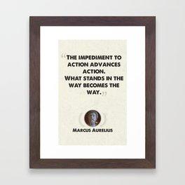 Marcus Aurelius on Obstacles Framed Art Print
