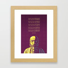 Lao Tzu quote: Watch your thoughts Framed Art Print
