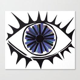Blue Eye Warding Off Evil Canvas Print