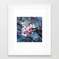cherry blossoms Framed Art Prints featuring Cherry Blossoms by Just Kidding