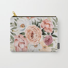 Muted Peonies and Poppies Carry-All Pouch
