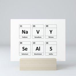 Navy SEALs Periodic Table Elements Mini Art Print