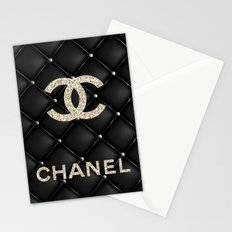 Glitter COCO Quilted Leather Stationery Cards