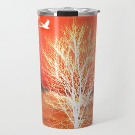 Sun in red Travel Mug
